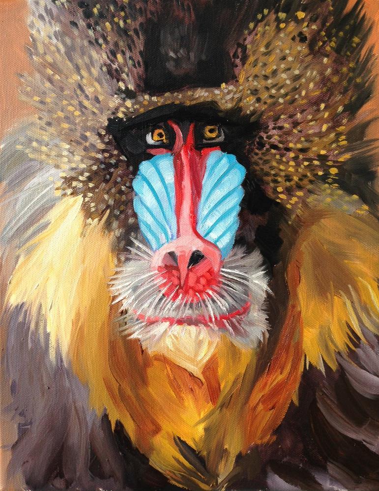 """Mandrill"" original fine art by Katy O'Connor"