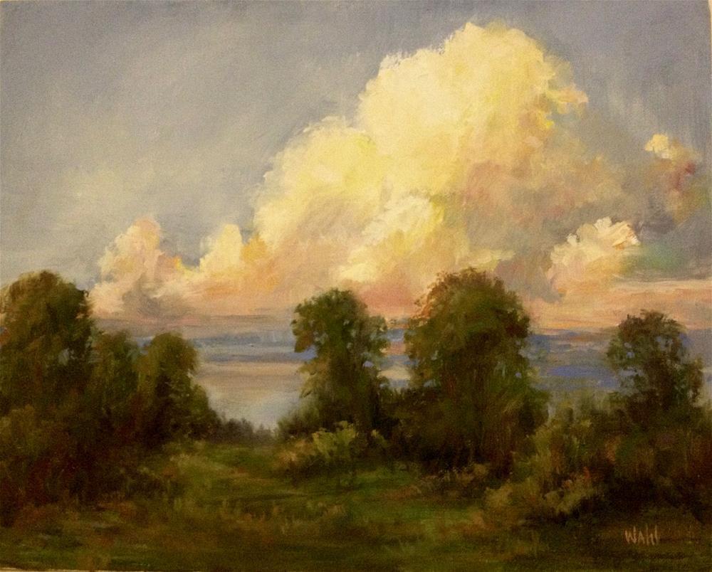 """Evening Palette of Color"" original fine art by Nancy Wahl"