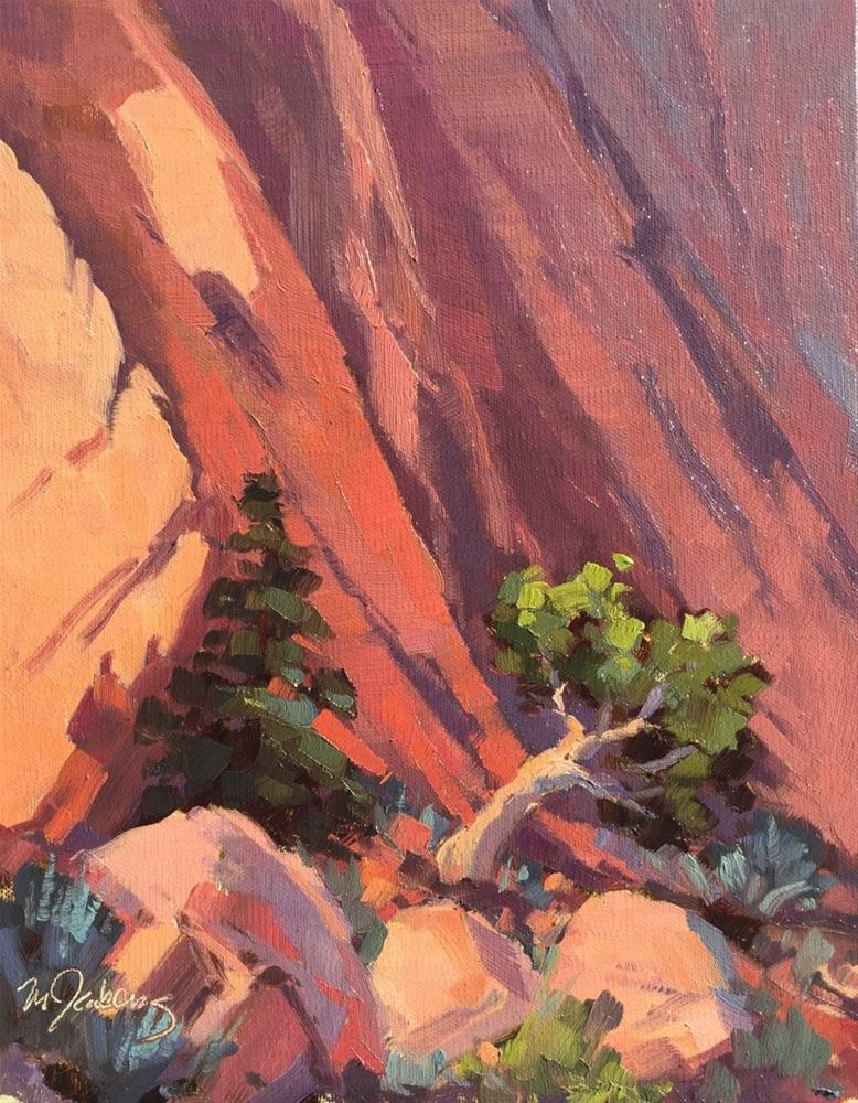 """Red Rock Afternoon"" original fine art by Mary Jabens"