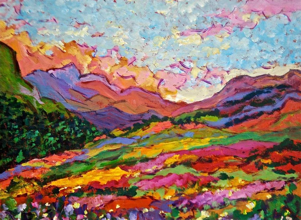 """Mountain Wildflowers"" original fine art by Liz Zornes"