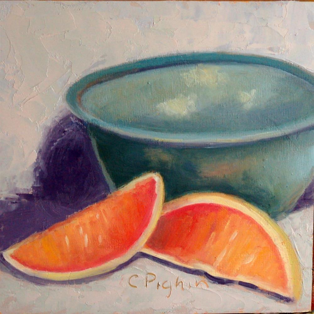 """""""Teal Bowl"""" original fine art by Carol Pighin"""