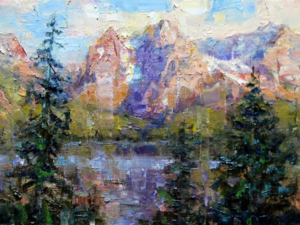 """Goodbye Yellowstone - Hello Jenny Lake!"" original fine art by Julie Ford Oliver"