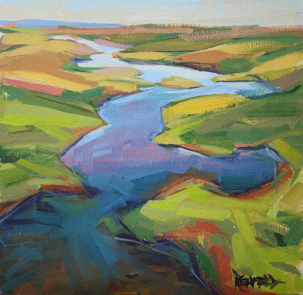 """""""Swale Creek Spring Colors"""" original fine art by Cathleen Rehfeld"""