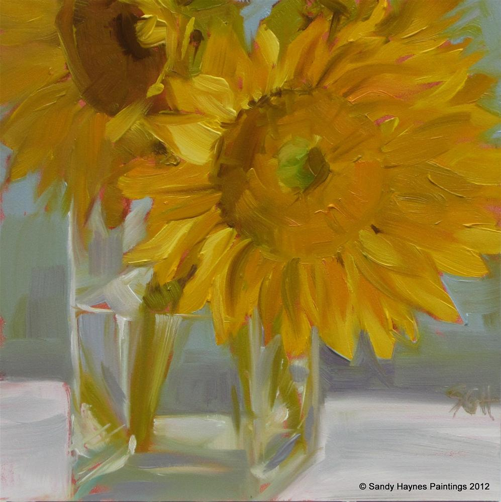 """Yellow Centers"" original fine art by Sandy Haynes"