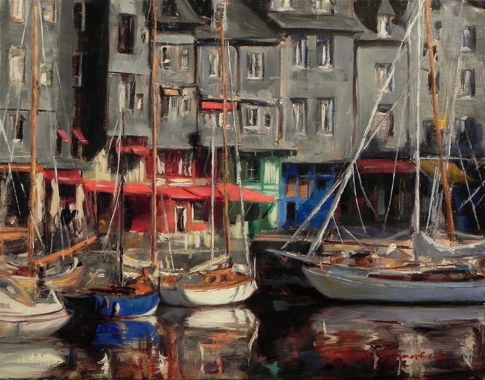 """Honfleur Boats"" original fine art by Jonelle Summerfield"
