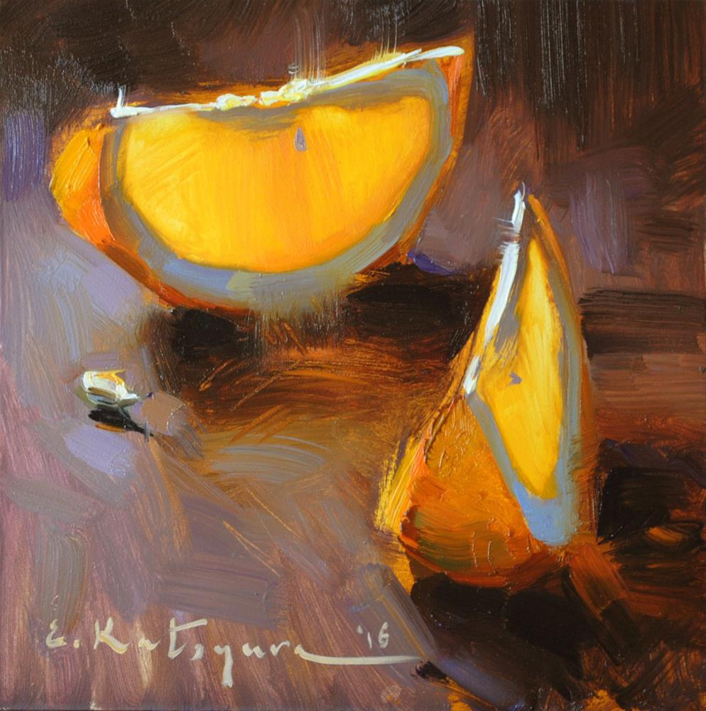 """Orange Slices"" original fine art by Elena Katsyura"