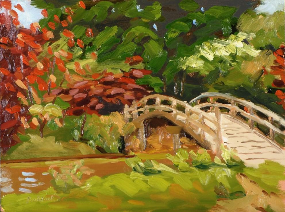 """Japanese Bridge Demo"" original fine art by Daniel Fishback"