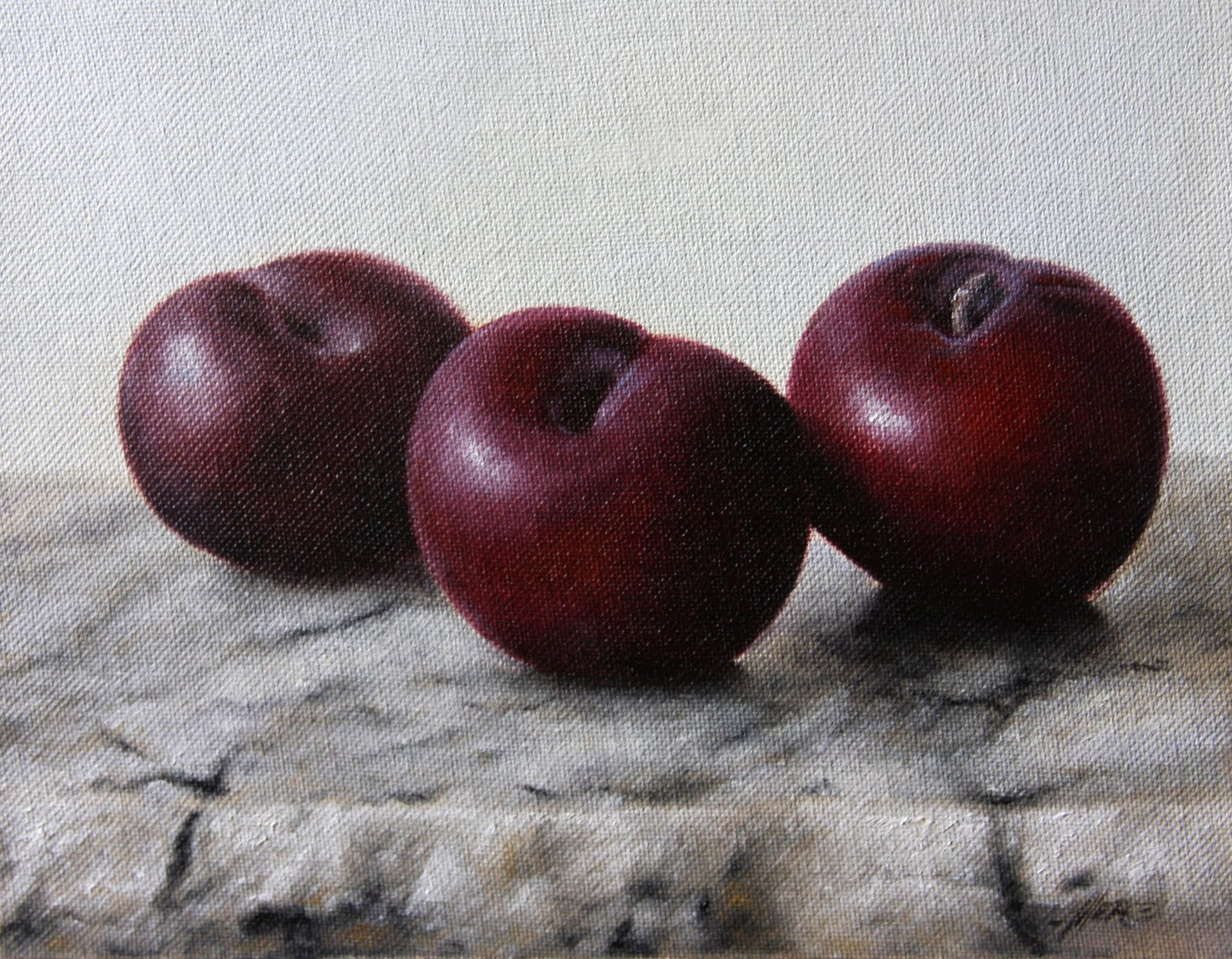 """Black Plums"" original fine art by Jonathan Aller"