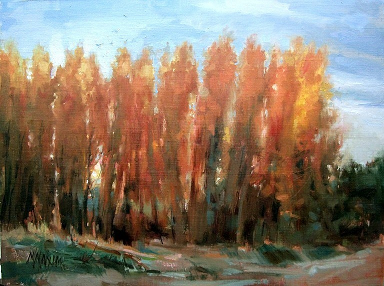 """River Gold"" original fine art by Mary Maxam"