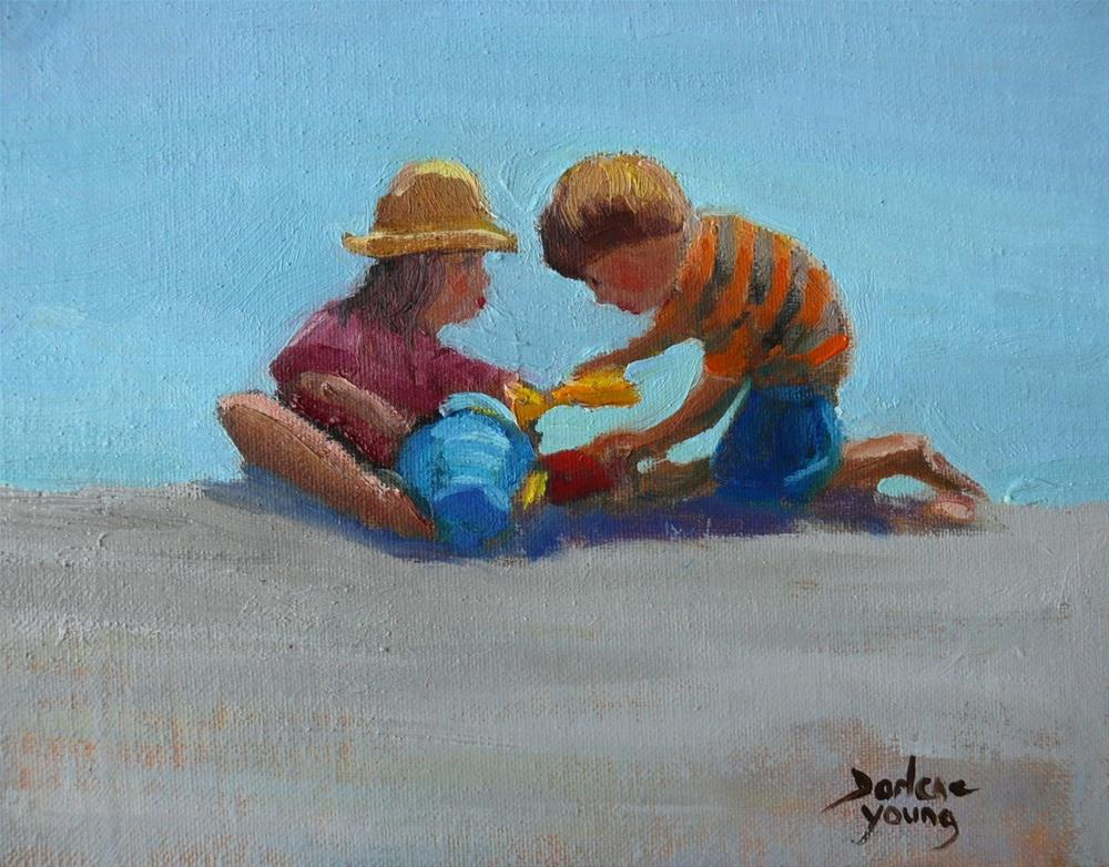 """751 Willows Beach Kids"" original fine art by Darlene Young"