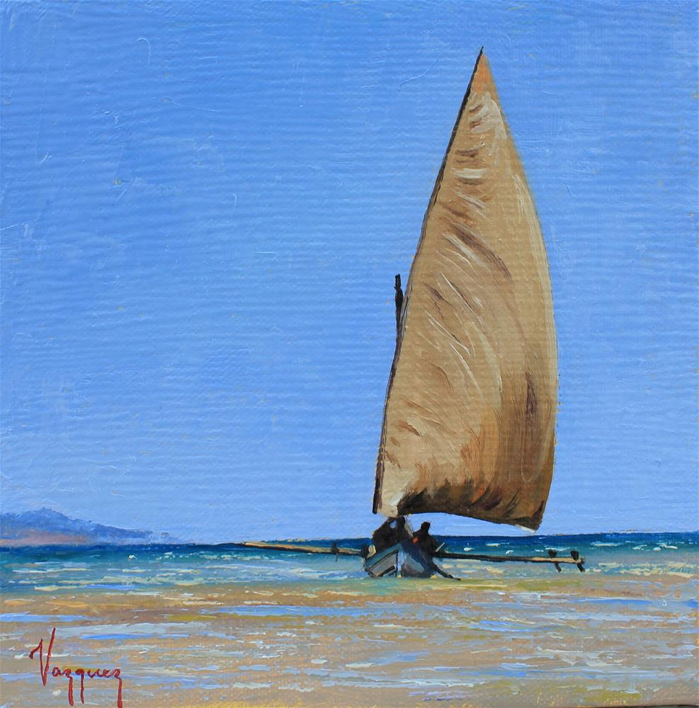 """sailing "" original fine art by Marco Vazquez"