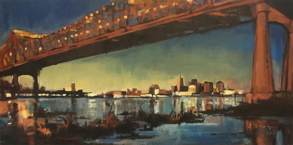 """Crescent City Connection"" original fine art by Chris Long"