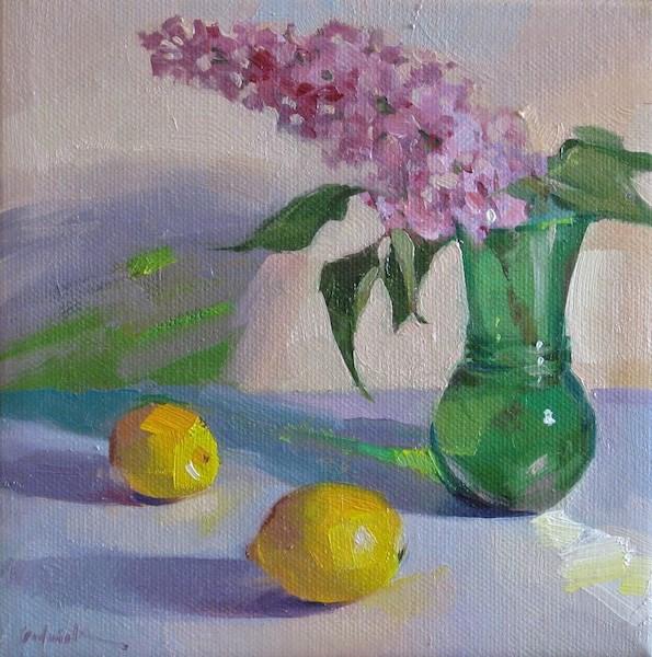 """Lone Lilac"" original fine art by Sarah Sedwick"