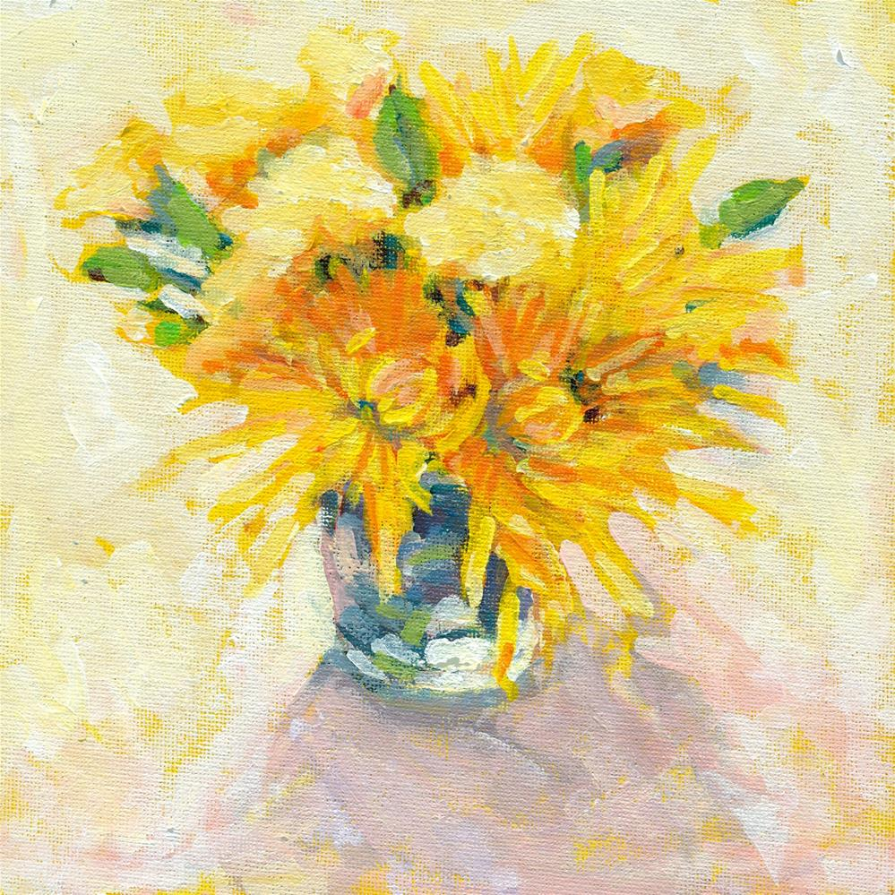 """bouquet of yellow"" original fine art by Shelley Garries"