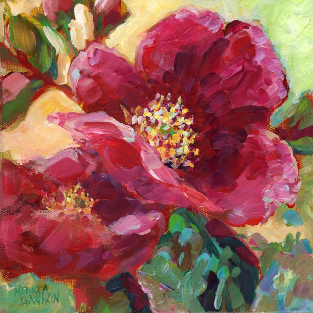 """""""Wild Rose Joy"""" original fine art by Melissa Gannon"""