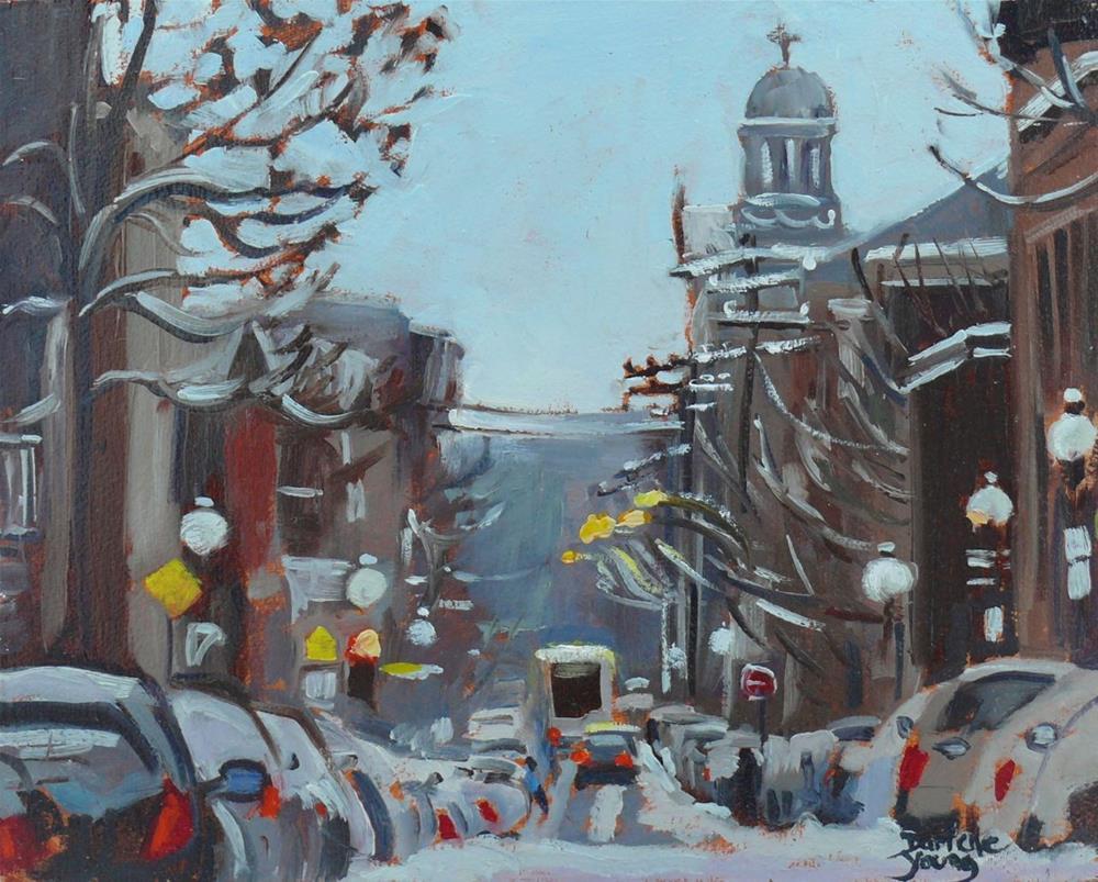"""584 Scene Near Le Plateau Montreal"" original fine art by Darlene Young"