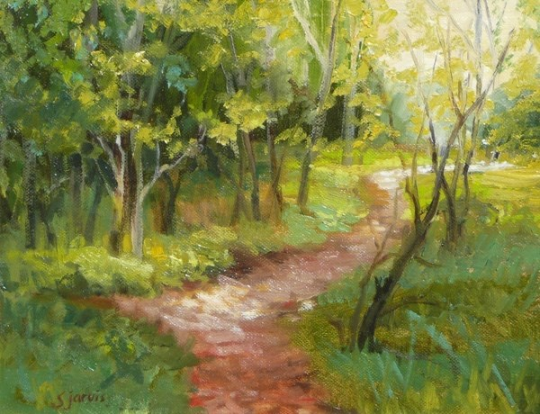 """A Backward Glance"" original fine art by Susan N Jarvis"