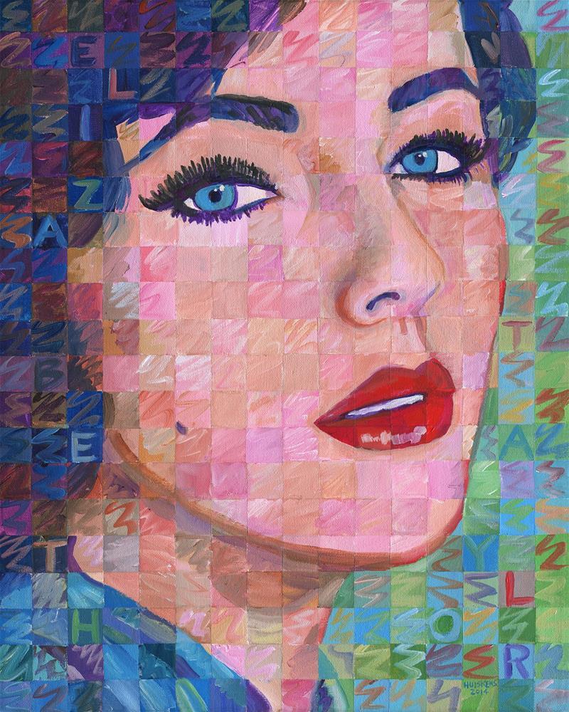 """Elizabeth Taylor #4"" original fine art by Randal Huiskens"