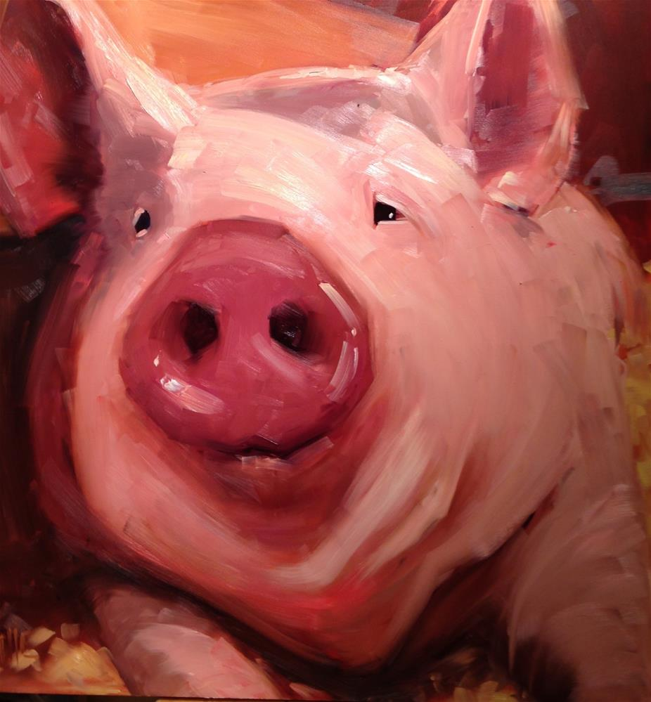 """#239 Some Pig"" original fine art by Patty Voje"