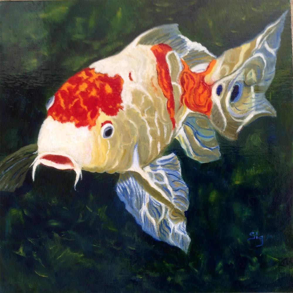"""Koi"" original fine art by Sigrid Victor"