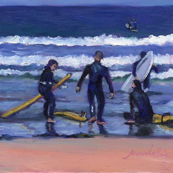 """Surfers"" original fine art by Mariko Irie"