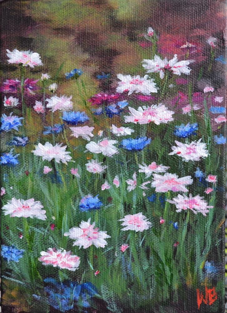 """""""WILD FLOWERS"""" original fine art by wendy black"""