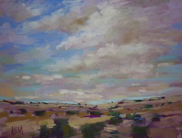 """How to Paint Beautiful Skies and Clouds....Live Demo and Booklet"" original fine art by Karen Margulis"