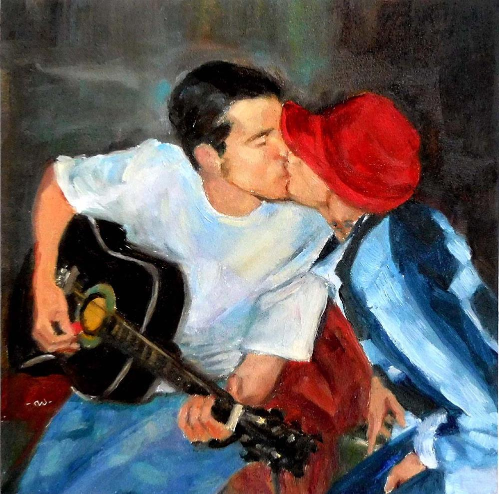"""The Kiss"" original fine art by Cietha Wilson"