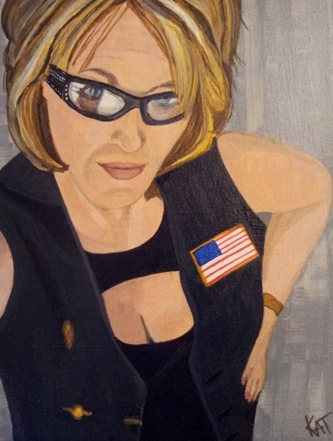 """Den Mom"" original fine art by Kathleen Carrier"