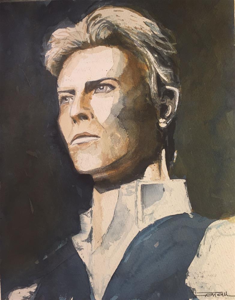 """DAVID BOWIE -The Thin White Duke-"" original fine art by Ferran Llagostera"