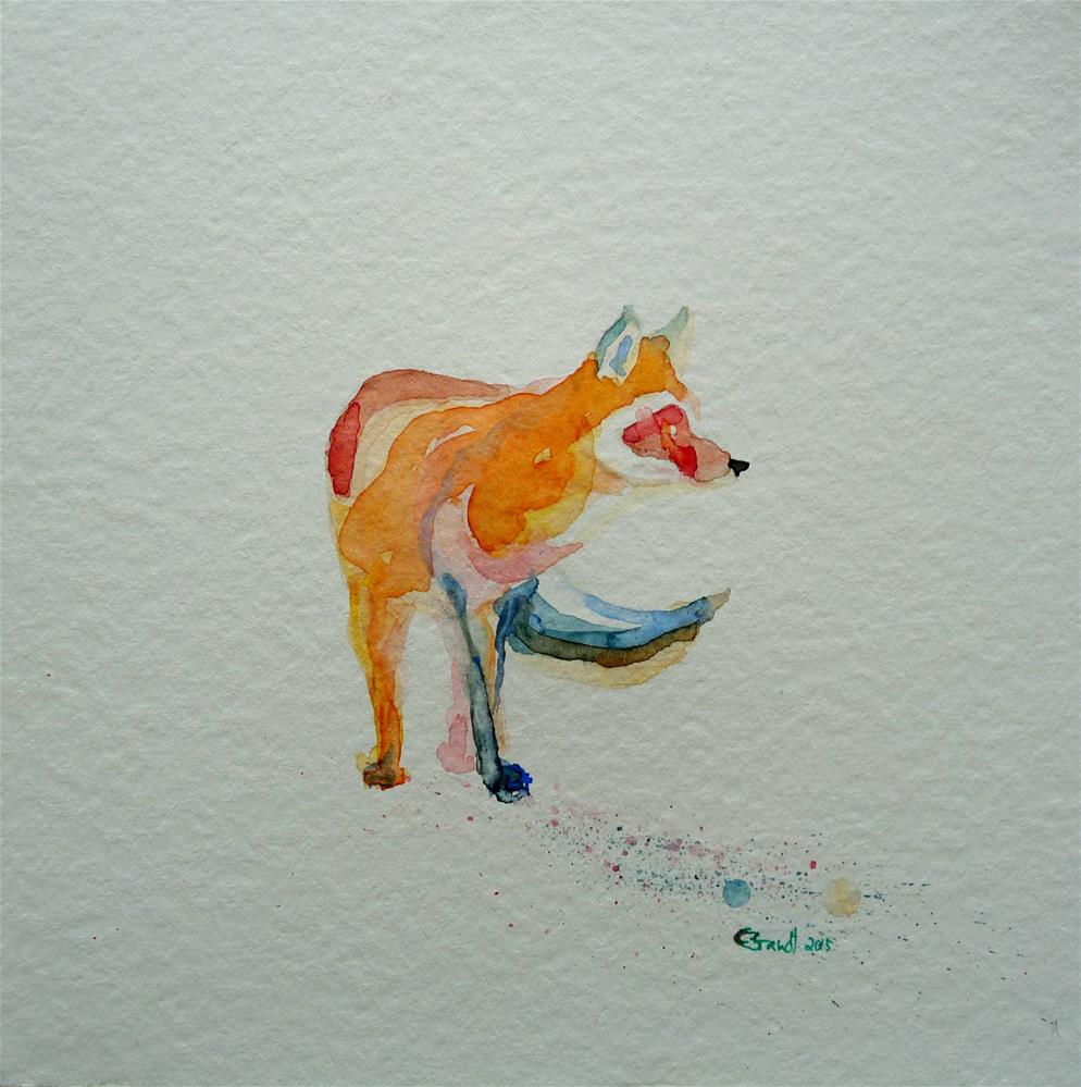"""fox No.2"" original fine art by Claudia Brandt"