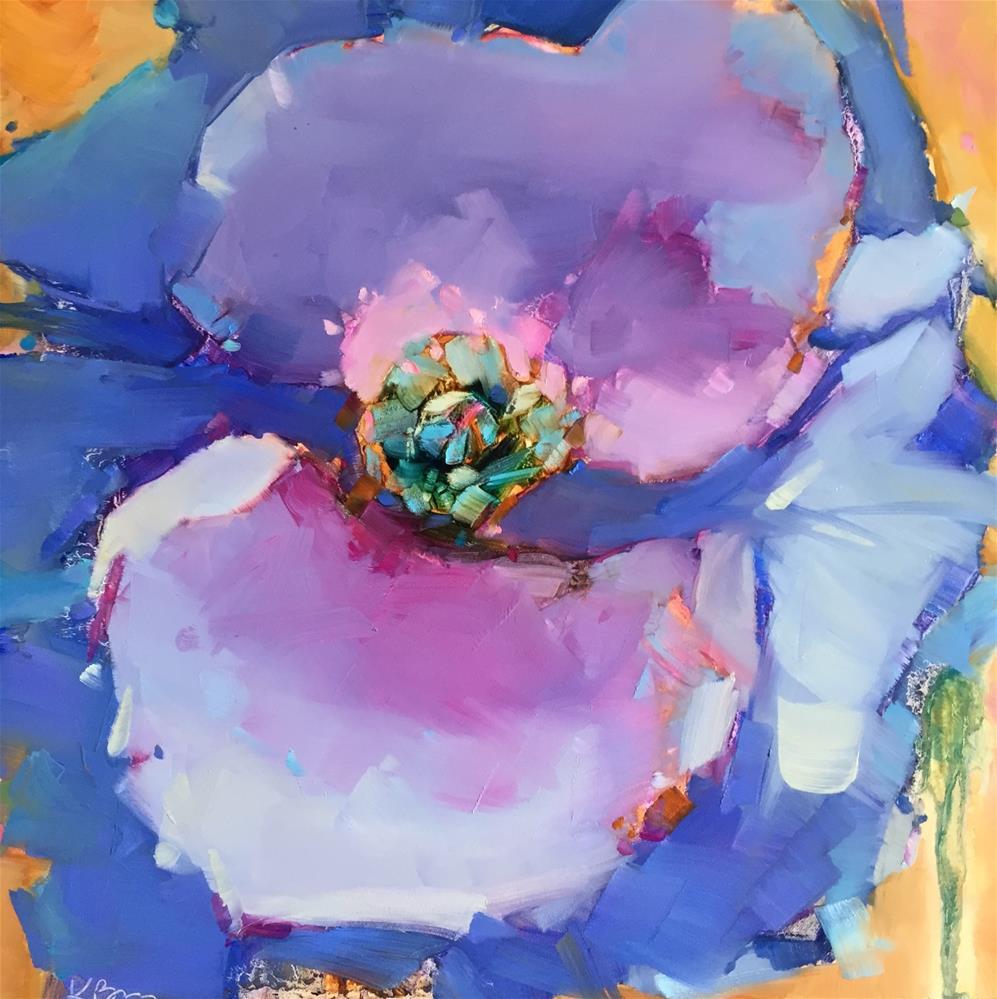 """Blue Poppy"" original fine art by Kathleen Broaderick"
