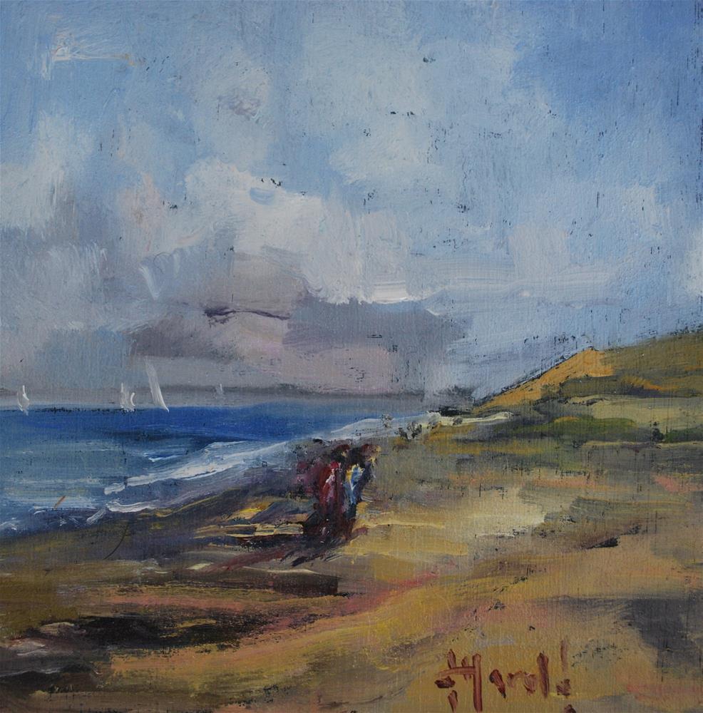 """South Of Newport"" original fine art by Deborah Harold"