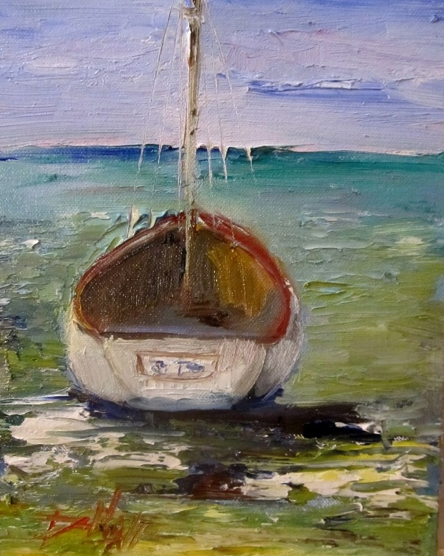 """Sailboat"" original fine art by Delilah Smith"