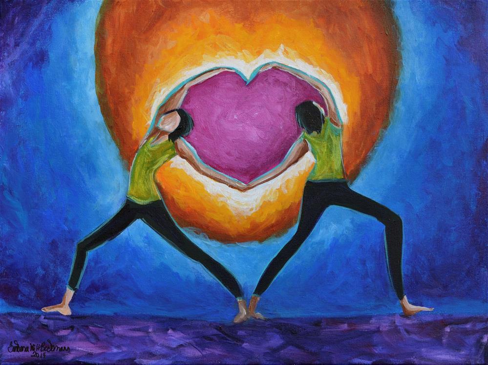 """""""Sisterhood love inspirational"""" original fine art by Barbara Beckmann"""