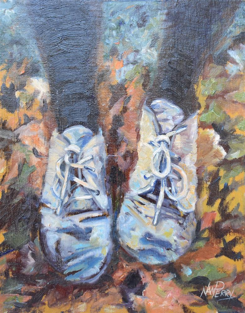 """Foot Rest"" original fine art by Nan Perry"