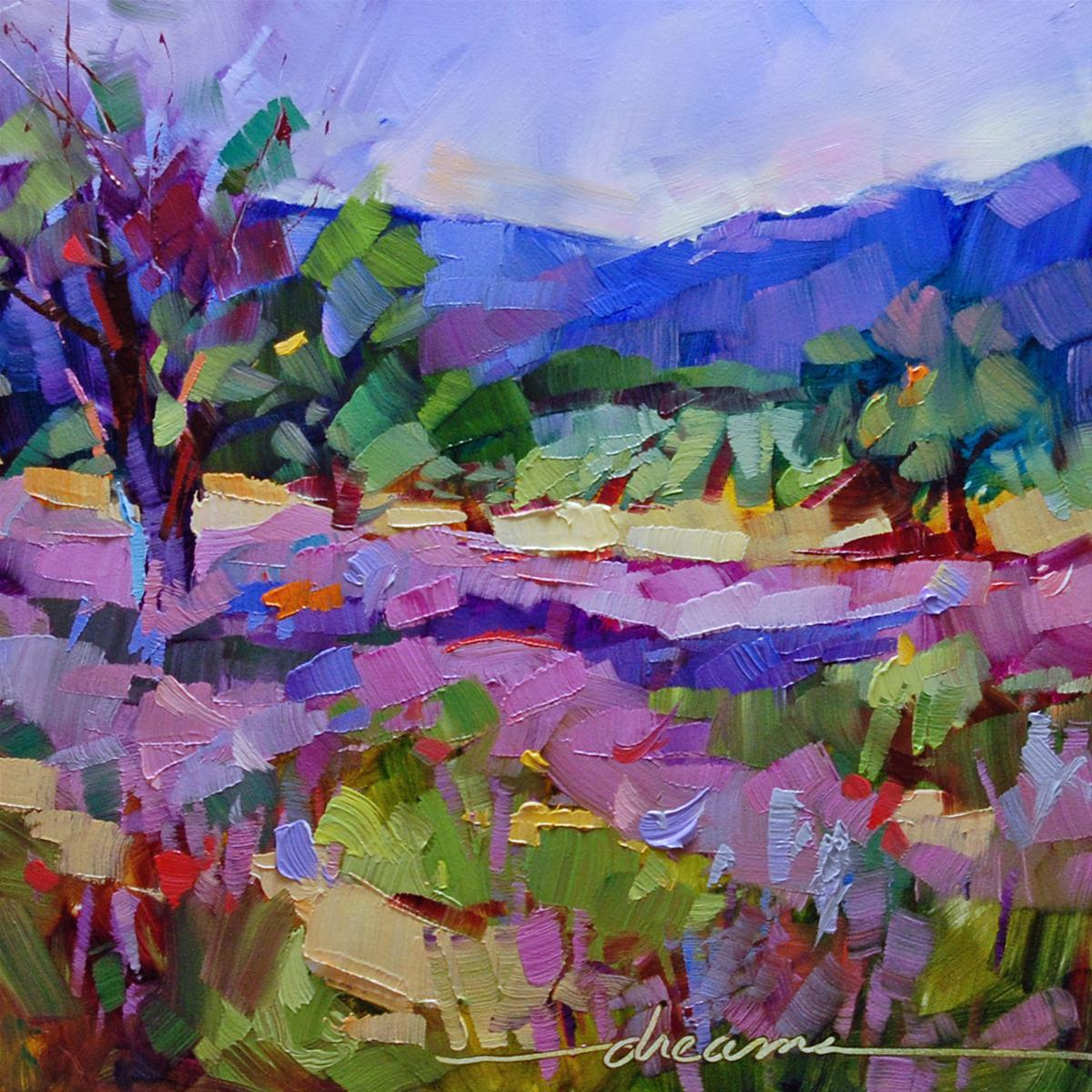 """High on Lavender"" original fine art by Dreama Tolle Perry"
