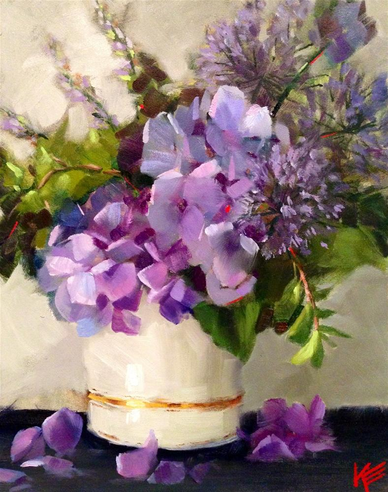 """Hydrangeas"" original fine art by Krista Eaton"