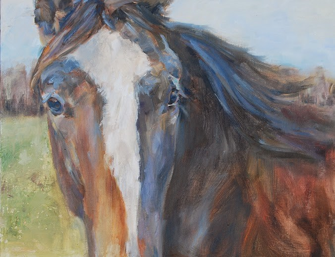 """Horse Painting, Original oil by Carol DeMumbrum"" original fine art by Carol DeMumbrum"