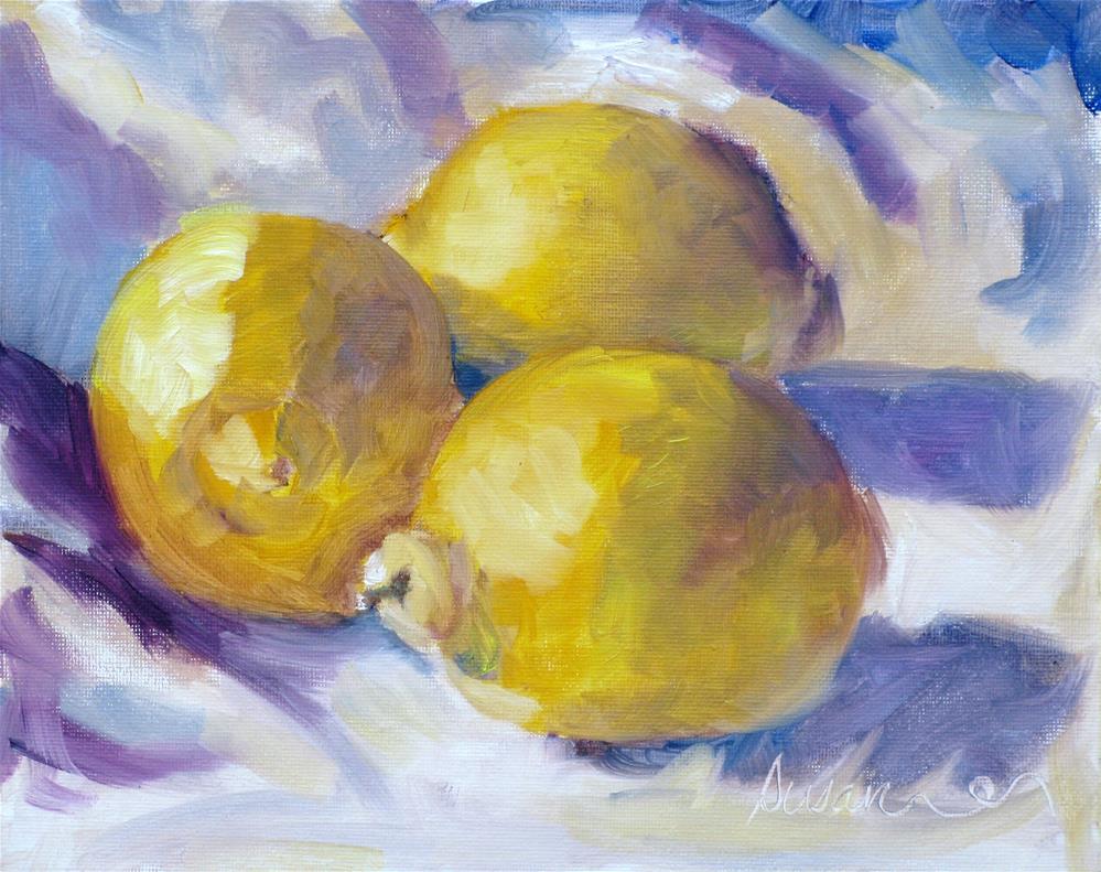 """Lemon Still Life"" original fine art by Susan Elizabeth Jones"