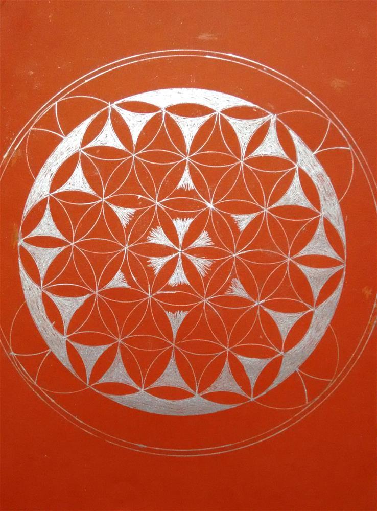 """Enjoying Mandala"" original fine art by Adéla Svobodová"