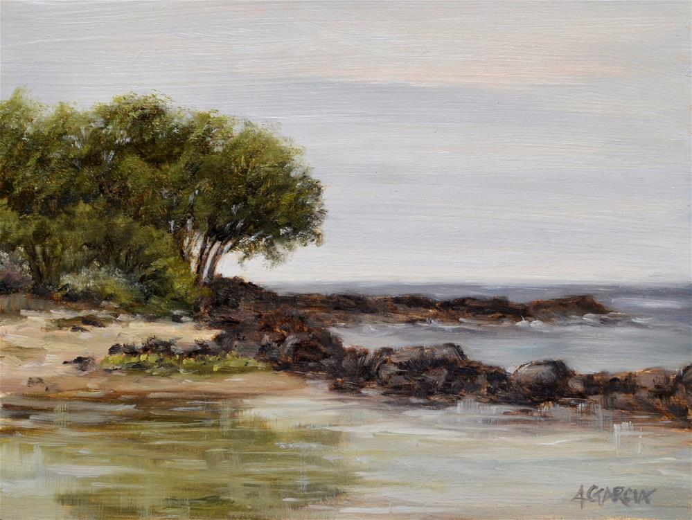 """Early Morning Tidepool"" original fine art by Jeannie Garcia"