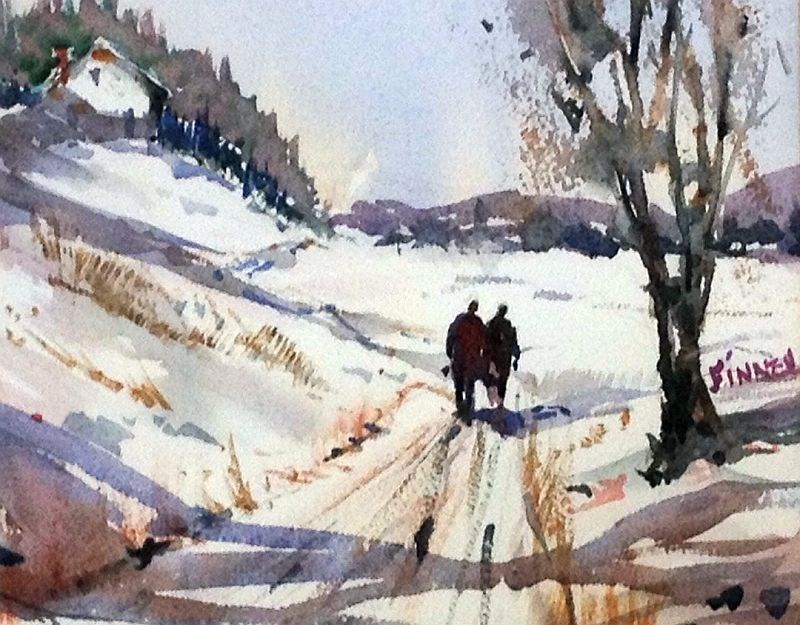 """Winter Walk"" original fine art by David Finnell"