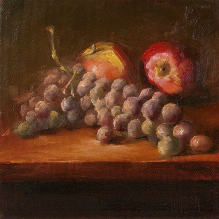 """Grape Study 2"" original fine art by Lori Twiggs"