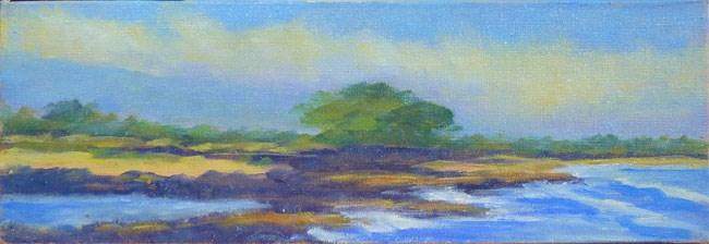"""Energy Lab Beach  View"" original fine art by Stan Chraminski"
