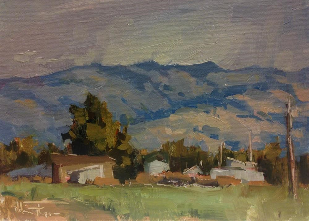 """Frenchtown Farmland"" original fine art by Melanie Thompson"