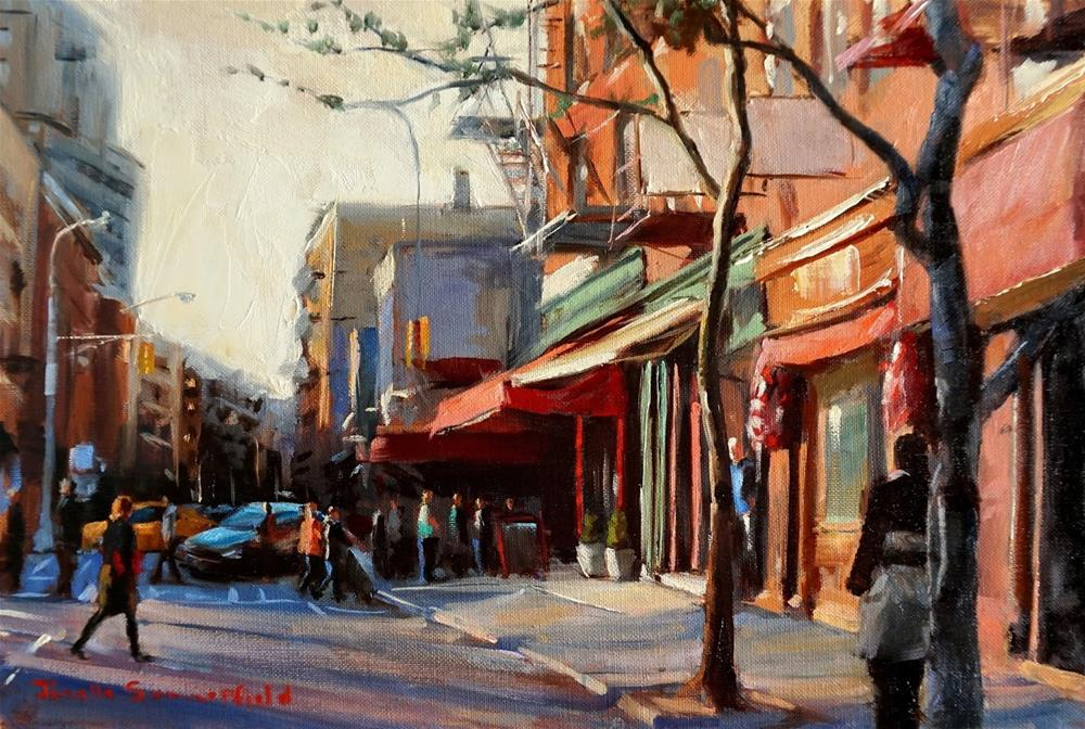 """Afternoon in Greenwich Village II"" original fine art by Jonelle Summerfield"