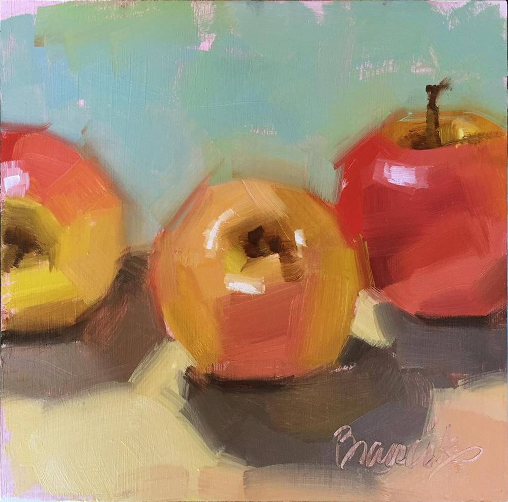 """Apples... again!"" original fine art by Candace Brancik"