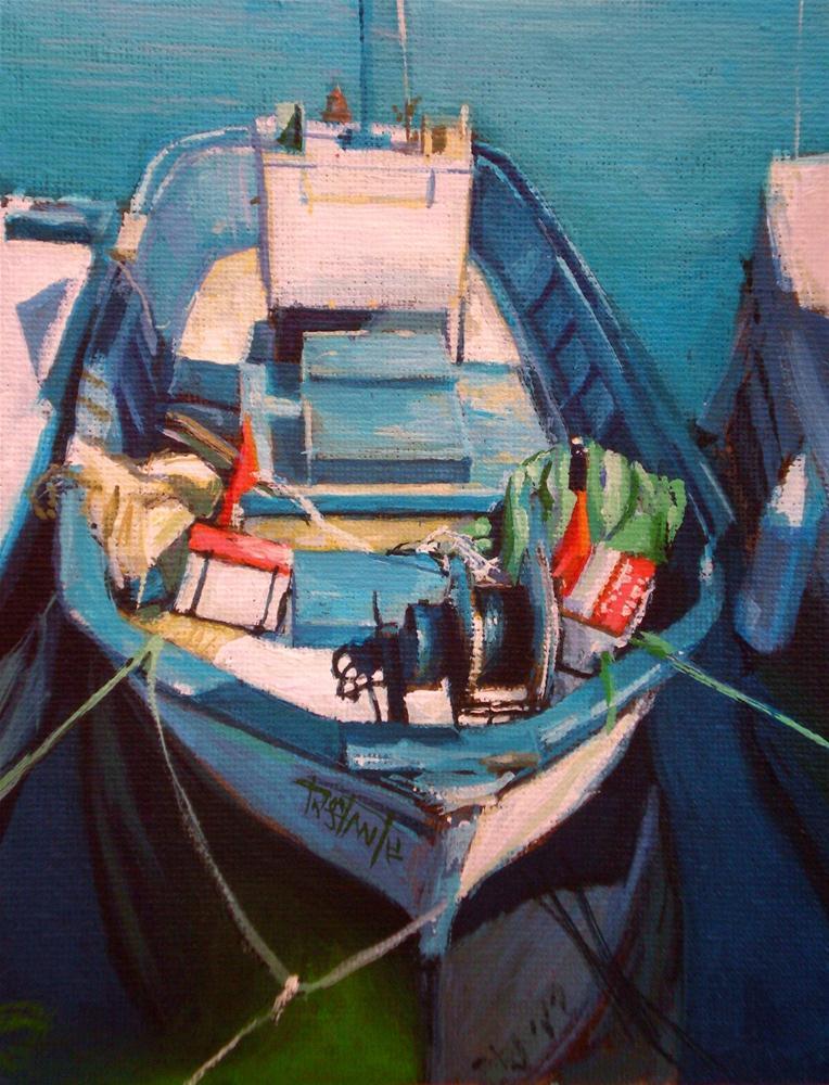 """""""Boat study #2"""" original fine art by Víctor Tristante"""