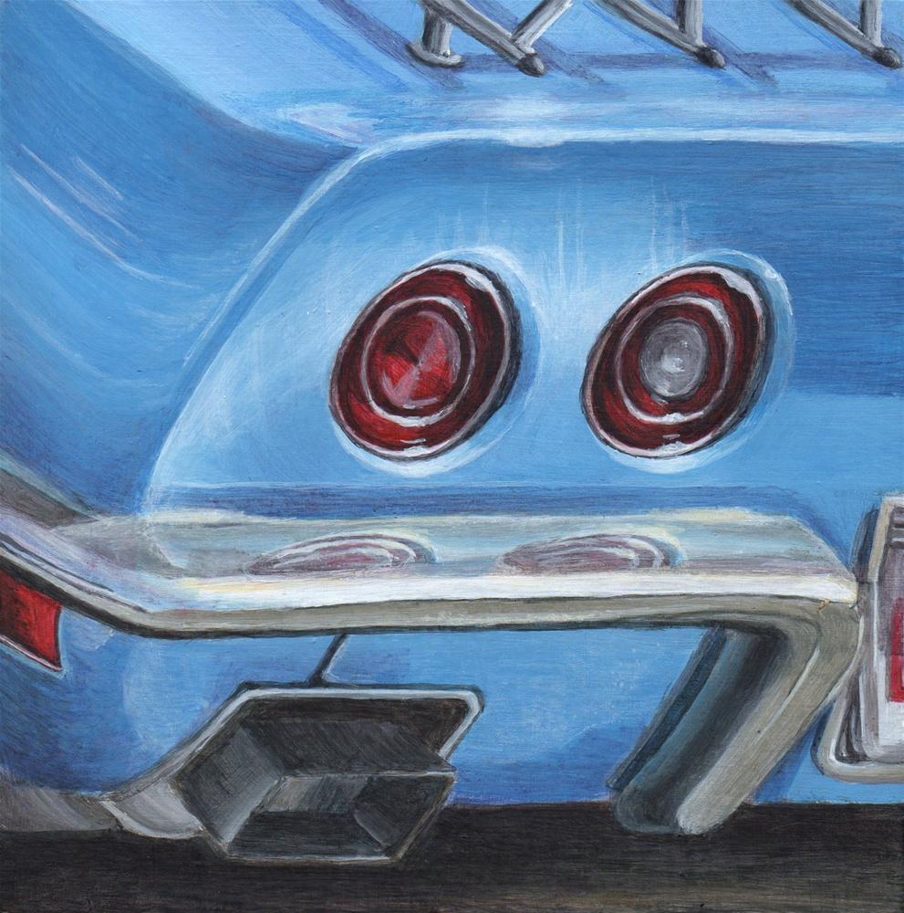 """Classic Corvette"" original fine art by Debbie Shirley"